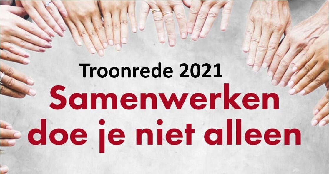 troonrede 2021; troonrede; 2021; samenwerking; samen werken; zorg; zorgbelang drenthe; jan van loenen; drenthe; regio; regionaal